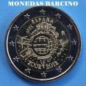 2012 - 2  EUROS - ESPAÑA - X ANIVERSARIO-CASADELAMONEDA
