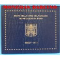 2014 - VATICANO -  EUROS - BLISTER-MONEDAS BARCINO