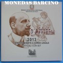 2013- ITALIA -  EUROS - PLATA- GRABIELE ANNUNZIO