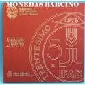 2008 - ITALIA -  EUROS- PLATA- TRENTESIMO - MONEDAS BARCINO