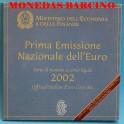 2002- ITALIA -  EUROS - BLISTER- COIN SET-MONEDAS BARCINO