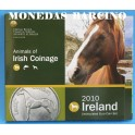 2010 - IRLANDA -  EUROS - BLISTER- ANIMALES - CABALLOS