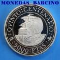 1989 - 5000 PESETAS - ESPAÑA - QUINTO CENTENARIO - SANTA MARIA
