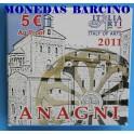 2011 - ITALIA - 5 EUROS -  ANAGNI - ARTE