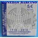 2010 - ITALIA - 5 EUROS -  CENTENARIO CONFINDUSTRIA