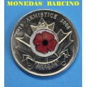 2008 - CANADA - 25 CENTS - RED POPPY