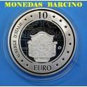 2010 - MALTA - 10 EUROS - PLATA - ALBERGUE DE ITALIA