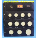 2012 - PARDO - HOJAS  COLECCION  EUROS 11 esp.