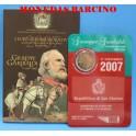 2007 - SAN MARINO - 2 EUROS - GIUSEPPE GARIBALDI