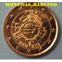 2012 - BELGICA - 2 EUROS - X ANIVERSARIO
