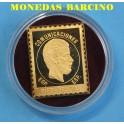 1872-73- MEDALLA - AMADEO DE SABOYA - FILATELICOS