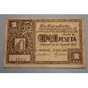 1937 - GRAUS  - 1 PESETA - HUESCA -  RIBAGORZA - BILLETE