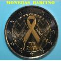 2014 - FRANCIA -2 EUROS - CONTRA EL SIDA-LAZO