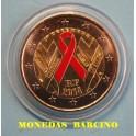 2014  FRANCIA- 2 EUROS- CONTRA EL SIDA