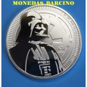 2017 - NIUE - 1 ONZA - 2 DOLLARS - STAR WARS- DARTH VADER --PLATA -