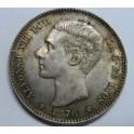 1876 - ALFONSO XII - 1 PESETA - PLATA - ESPAÑA
