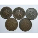 1878- HOLANDA - NEDERLAND - 1 CENT -  LOTE 5 MONEDAS