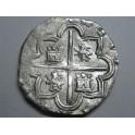 1592 - FELIPE  II -  8 REAL COB - MACUQUINO - SEGOVIA - PLATA - ESPAÑA