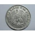 1883 -CHILE  1 DECIMO - SANTIAGO DE CHILE-PLATA - CONDOR