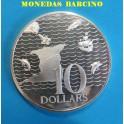 1975 - TRINIDAD Y TOBAGO - 10  DOLARES - PLATA - TRINIDAD