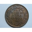 1834 - INDIA  - 1 QUARTER ANNA - KING EMPEROR GEORGE V - BRITISH