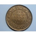 1817- INDIA  - 1 QUARTER ANNA - KING EMPEROR GEORGE V - BRITISH
