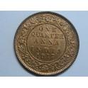 1817- INDIA  - 1 QUARTER ANNA - KING EMPEROR GEORGE V - BRITISH