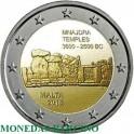 2018 - MALTA - 2 EUROS - TEMPLO MNAJDRA - MONEDA CONMEMORATIVA