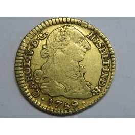 1789 - CARLOS IV-  1 ESCUDOS -  POPAYAN -COLOMBIA - CHARLES IV-GOLD