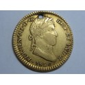 1820 --FERNANDO VII- 1 ESCUDO - MEXICO - ORO - GOLD