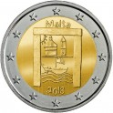 2018 - MALTA - 2 EUROS - PATRIMONIO DE CULTURA - HERITAGE - MONEDA CONMEMORATIVA