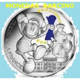 2018 - FRANCIA - -FRANCE - 50 EUROS - MICKEY MOUSE - COLOREADA - PARIS PLATA