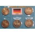 2009 - ALEMANIA - 5 MONEDAS DE 2  EUROS - IGLESIA  SAARLAND - 5 CECAS