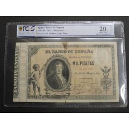 1895 - ALFONSO XIII - 1000 PESETAS- CONDE DE CABARRUS - ENCPSULADO PCGS VF20