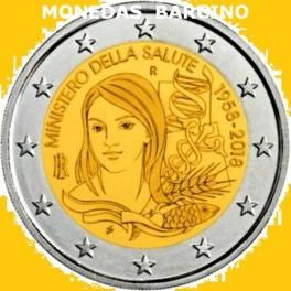 2018 - ITALIA - 2 EUROS -MINISTERIO DE LA  SALUD -