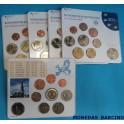 2007 ALEMANIA - EUROS- 5 BLISTER COLECCION -  9 MONEDAS