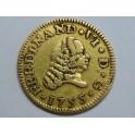 1755 -  FERNANDO VI - 1/2 ESCUDO -ORO - MEDIO ESCUDO - SEVILLA