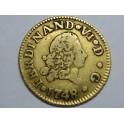 1748 - FERNANDO VI - 1/2 ESCUDO - MEDIO ESCUDO - ORO - MADRID
