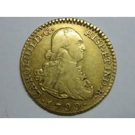 1799 - CARLOS IV-  1 ESCUDOS - MADRID - ORO- CHARLES IV-GOLD