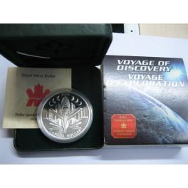 2000 - CANADA -  DOLLAR -  VOYAGE DISCOVERY - PLATA