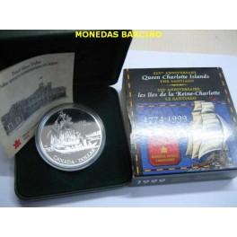1999 - CANADA -  DOLLAR -  THE SANTIAGO 1774  ISLAS REINA CHARLOTTE - PLATA
