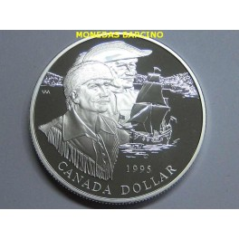 1995 - CANADA -  DOLLAR - PROOF - COMPAGNIE DE  LA BAIE D´HUDSON -PLATA
