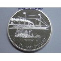 1991 - CANADA -  DOLLAR - FRONTENAC 1816-1991- PLATA