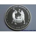 1988 - CANADA -  DOLLAR  - IRONWORKS -PLATA