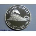 1986 - CANADA -  DOLLAR  - PROOF -  VANCOUVER   1886-1986  -PLATA