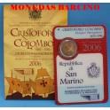 2006 - SAN MARINO - 2 EUROS - CRISTOFORO COLOMBO
