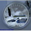 2015 - COOK ISLANDS - 1/2 ONZA - 2  DOLLAR - MALLARD - PATO REAL -PLATA