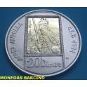 1991 - ANDORRA - 20 DINERS - CARLOMAGNO -PLATA -ORO