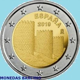2019 - ESPAÑA - 2 EUROS CONMEMORATIVOS - AVILA