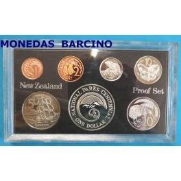 1987 - NUEVA ZELANDA - DOLLARS - PARQUE NACIONALES - PROOF SET